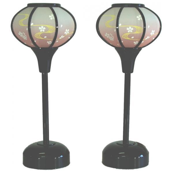 雪洞 灯り 単品 部品売り 21cm 京極小流れ 黒LEDコードレス 140002