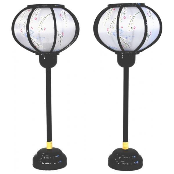 雪洞 灯り 単品 部品売り 31cm 形菊灯黒コードレス 147025