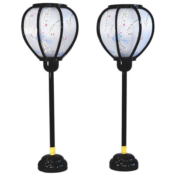 雪洞 灯り 単品 部品売り 38cm m大形平安灯黒コードレス 147056