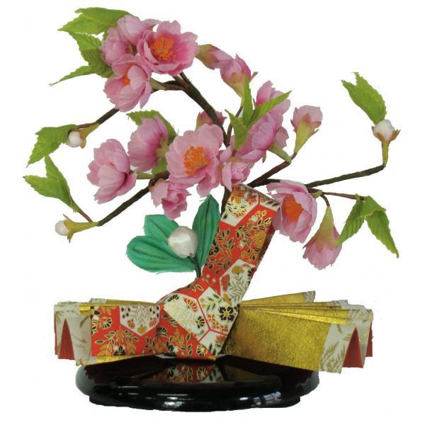ひな人形 ひな道具 単品 部品 売り 花 桜橘 しずかEH単花19-03 結び赤 275025