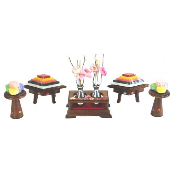 ひな人形 ひな道具 単品 部品 売り 前飾道具 三品道具 三品 菱高三宝 桐 111507