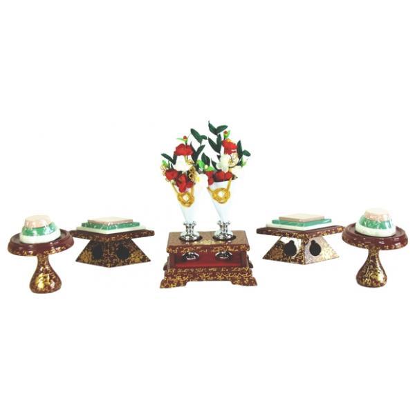 ひな人形 ひな道具 単品 部品 売り 前飾道具 三品道具 三品 赤古代 111521