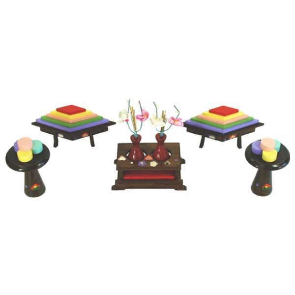 ひな人形 ひな道具 単品 部品 売り 前飾道具 三品道具 三品 代塗 129151