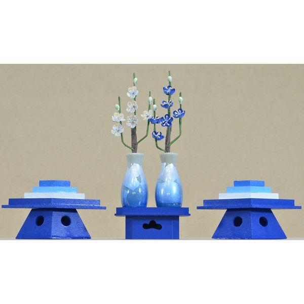 ひな人形 ひな道具 単品 部品 売り きよら 前飾道具 二品道具 二品 青須恵の彩銀彩青 131109