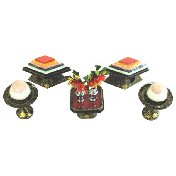 ひな人形 ひな道具 単品 部品 売り 前飾道具 三品道具 三品 菱高三方唐草 166811