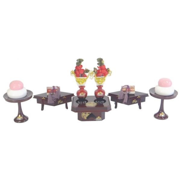 ひな人形 ひな道具 単品 部品 売り 前飾道具 三品道具 三品 溜塗雪牡丹 桜 266535