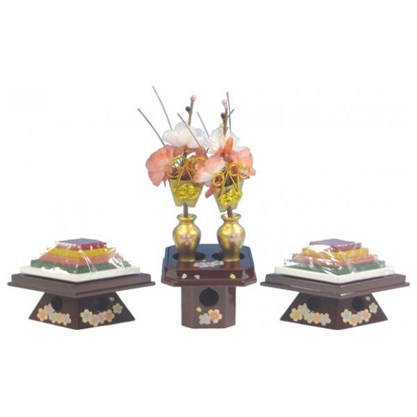 ひな人形 ひな道具 単品 部品 売り 前飾道具 二品道具 二品 ワインにリボン桜 269956