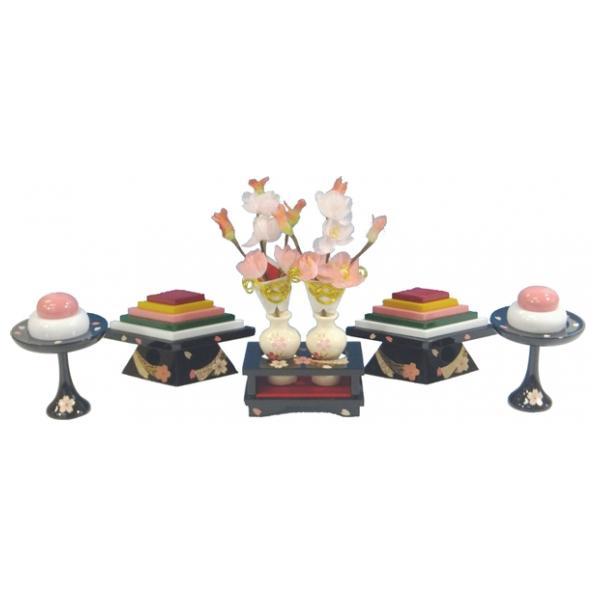 ひな人形 ひな道具 単品 部品 売り 前飾道具 三品道具 三品 菱高三方 桜衣 277708