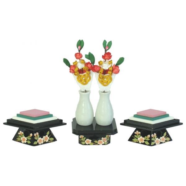 ひな人形 ひな道具 単品 部品 売り 前飾道具 二品道具 二品 すずやかSG80-01献上三方桜菱台 301472