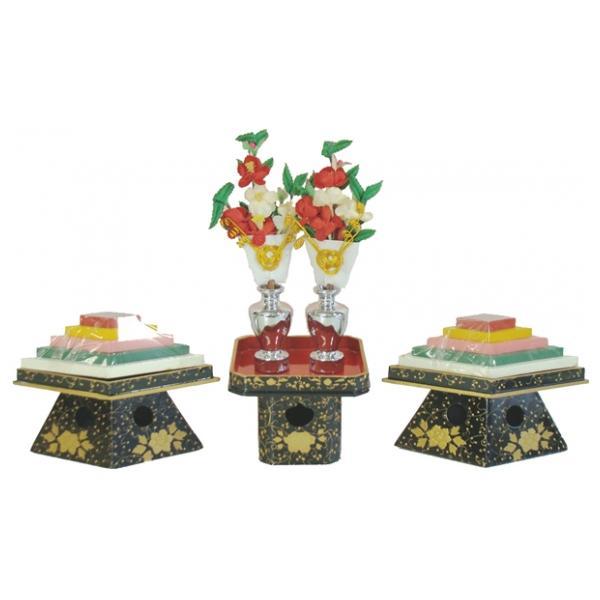 ひな人形 ひな道具 単品 部品 売り 前飾道具 二品道具 二品 菱餅三宝前盛上 866476