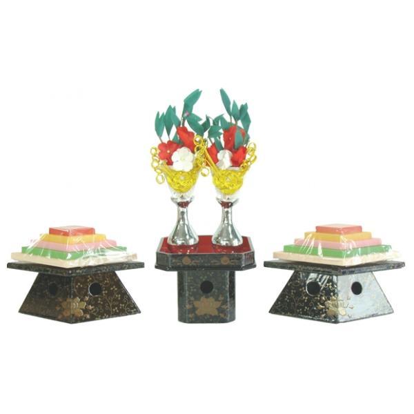 ひな人形 ひな道具 単品 部品 売り 前飾道具 二品道具 二品 三方菱台本金花盛上 銀 870053