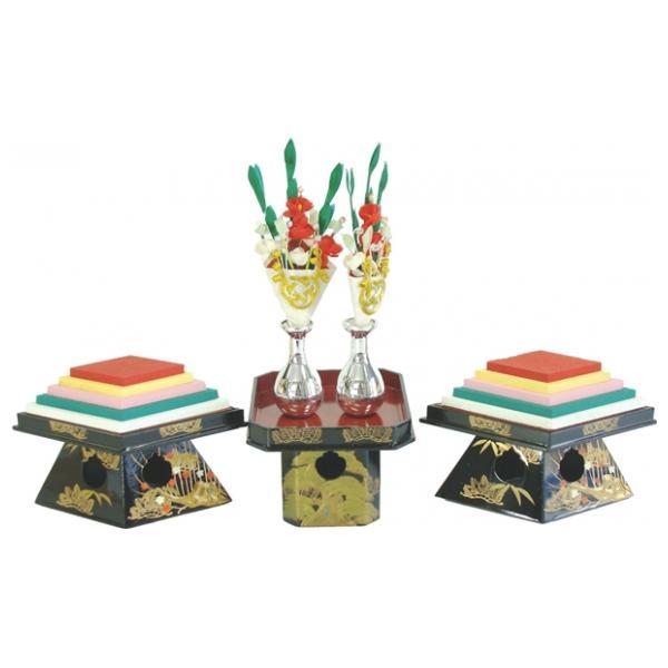 ひな人形 ひな道具 単品 部品 売り 前飾道具 二品道具 二品 三方菱台本金松竹梅 870084