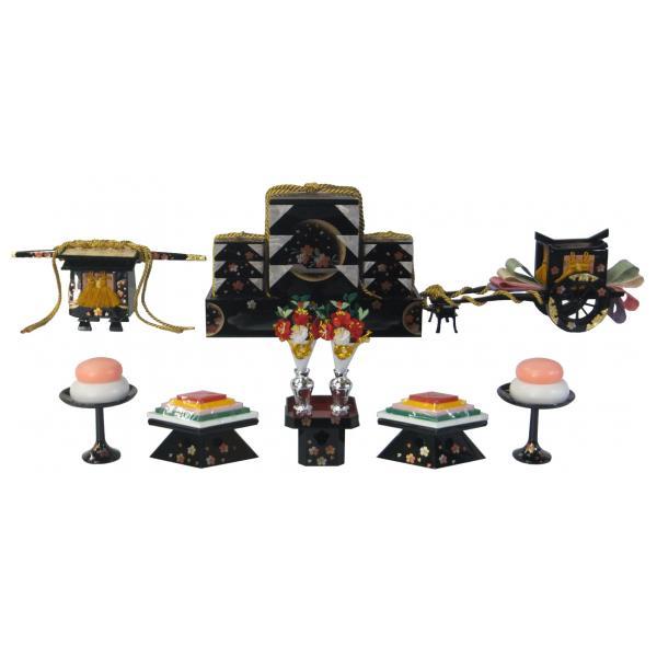 ひな人形 ひな道具 単品 部品 売り 前飾道具 六品道具 月見桜 111651