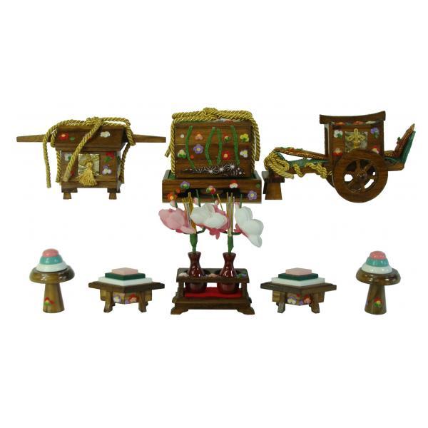 ひな人形 ひな道具 単品 部品 売り 前飾道具 六品道具 古代塗 111668