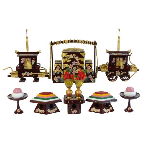 ひな人形 ひな道具 単品 部品 売り 前飾道具 六品道具 ワインにリボン桜 128833