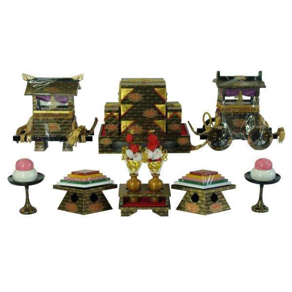 ひな人形 ひな道具 単品 部品 売り 前飾道具 六品道具 松葉牡丹 128840
