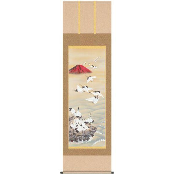 掛軸 掛け軸 三幸 第30集 [赤富士飛翔][尺五]C1-037[長江][桂舟] 140347634