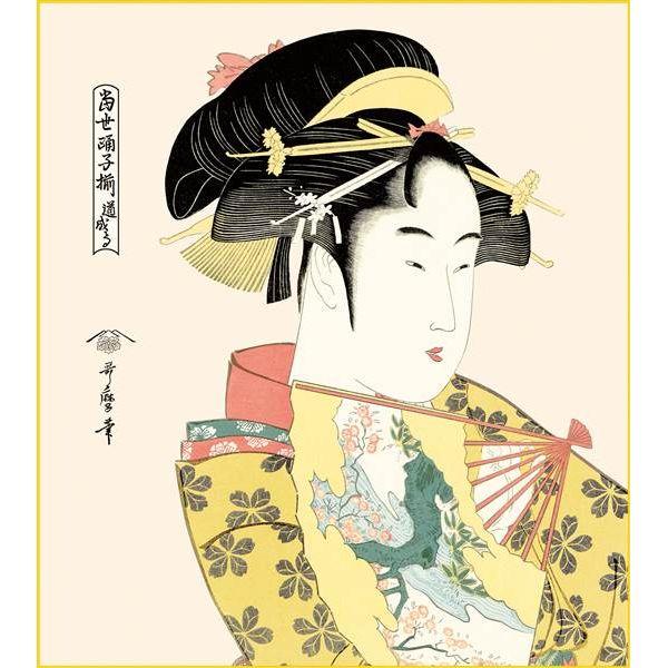 日本 おみやげ 和風 色紙 数量限定アウトレット最安価格 三幸 趣1号 K3-033 色紙と色紙立 道成寺 154764189 歌麿 在庫処分