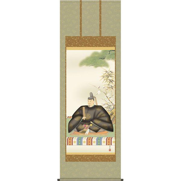掛軸 三幸 天神第1集 天神様 尺八 正絹 T1C4-047 小野 洋舟 154791162