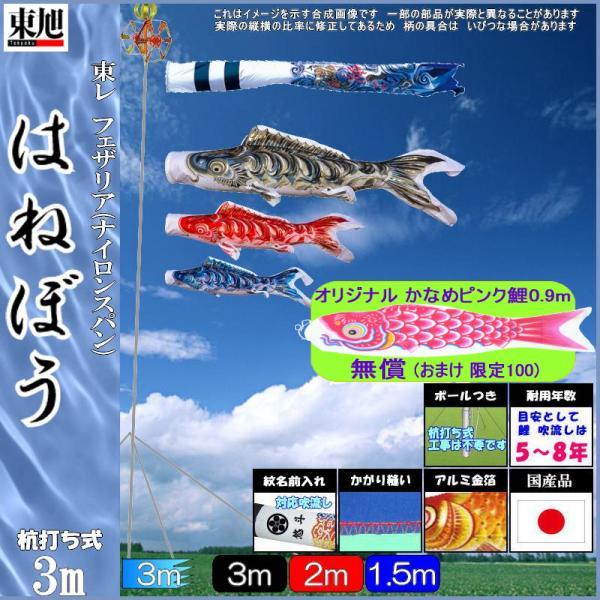 鯉のぼり 東旭 こいのぼりセット はねぼうF #300ST はねぼう昇竜 ガーデンセット 139556414
