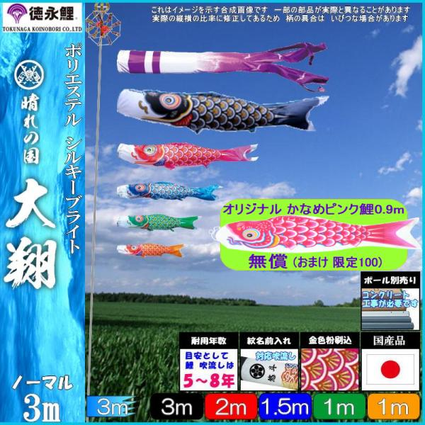 鯉のぼり 徳永鯉 ノーマル 大翔 3m5匹 千羽鶴吹流し 139587659