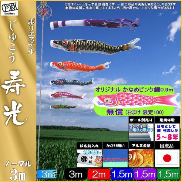 鯉のぼり キング印 山本 こいのぼりセット 寿光 3m8点 寿光吹流し ノーマルセット 139730047