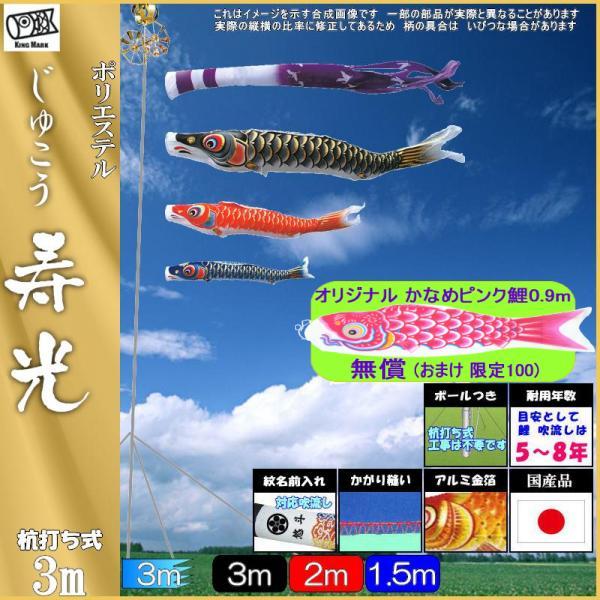 鯉のぼり キング印 山本 こいのぼりセット 寿光 3m 寿光吹流し 庭園セット 139730424