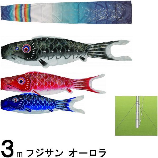 鯉のぼり フジサン こいのぼりセット オーロラ鯉 30号 マイホームセット 139631114