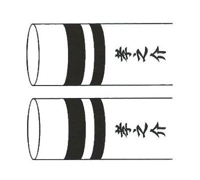 鯉のぼり 東旭鯉 家紋名前入れ 3m以上 パターン5 黒 同じ名前 両面1ヶずつ 139563909