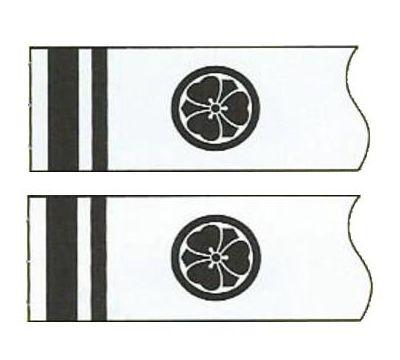 鯉のぼり 徳永鯉 家紋名前入れ 全サイズ パターンF1 黒 同じ家紋 両面1ヶずつ 139594900