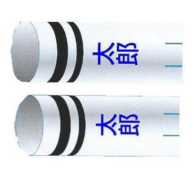 鯉のぼり 渡辺鯉 家紋名前入れ 2.5m以上 3m以下 パターンN-A 青 同じ名前 縦向き 縦書き 両面1ヶずつ 139617932