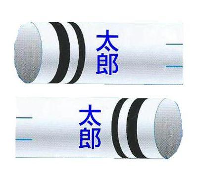 鯉のぼり 渡辺鯉 家紋名前入れ 2.5m以上 3m以下 パターンN-C 青 同じ名前 横向き 縦書き 両面1ヶずつ 139617934