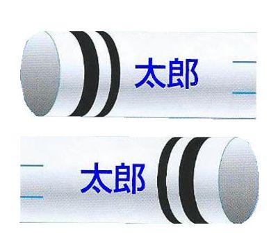 鯉のぼり 渡辺鯉 家紋名前入れ 2.5m以上 3m以下 パターンN-D 青 同じ名前 縦向き 横書き 反対方向 両面1ヶずつ 139617935