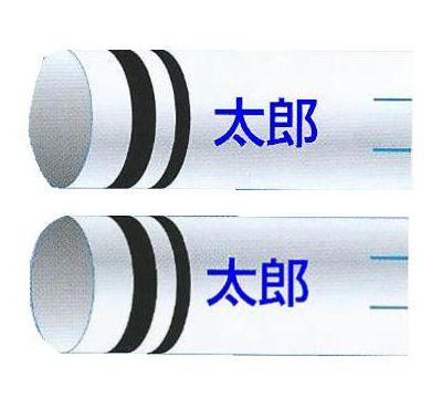 鯉のぼり 渡辺鯉 家紋名前入れ 2.5m以上 3m以下 パターンN-F 青 同じ名前 縦向き 横書き 同方向反転 両面1ヶずつ 139617937