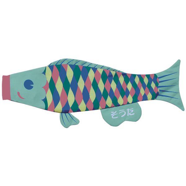 室内鯉のぼり PUCA えらべるたのしさ プーカ 元気で勇気のある コイちゃん ペールブルー L 600816 146929070