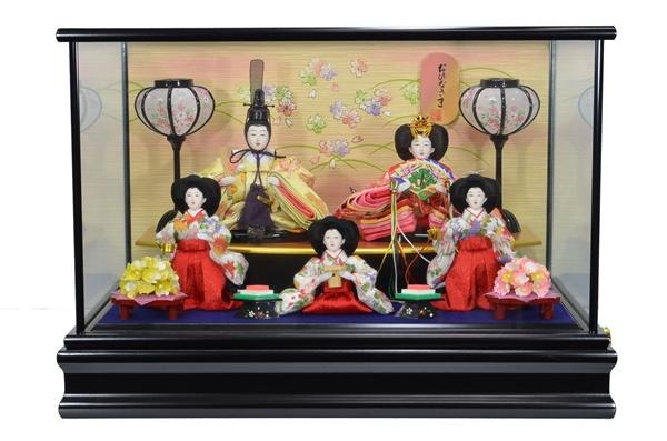 雛ケース入 小芥子 五人 S426 カブセケース 33cm ×48cm ×33.5cm 112122