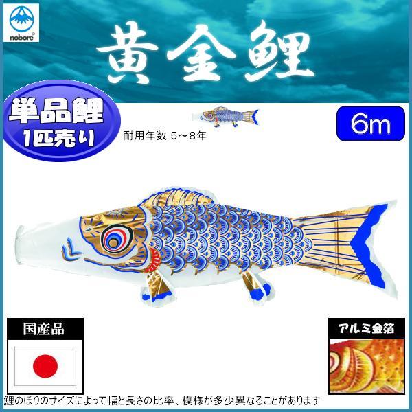 鯉のぼり フジサン鯉 こいのぼり単品 黄金 青鯉 6m 139648071