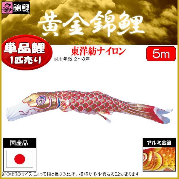 鯉のぼり 渡辺鯉 こいのぼり単品 黄金錦鯉 赤鯉 5m 139617260