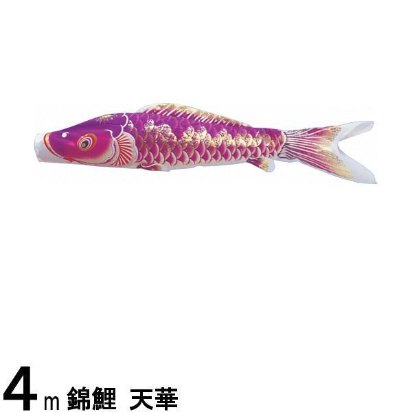 鯉のぼり 渡辺鯉 こいのぼり単品 天華 撥水加工 紫鯉 4m 139617037