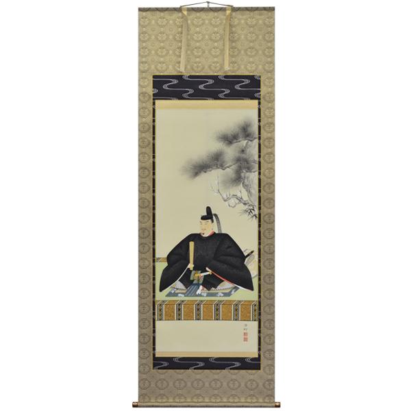 掛軸 翠峰オリジナル 天神様 尺八 滄柳 京正表具 軸先九谷焼 254860