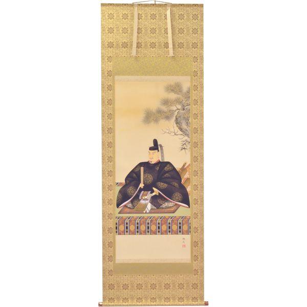 掛軸 翠峰オリジナル 天神様 尺八 梅苑 京正表具 宇陀 太巻 軸先九谷焼 260267
