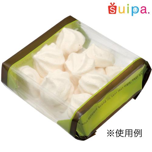 【送料無料】【菓子袋・バリア袋・マチ有袋】ドゥミセック グリーン大(外寸99×43×220H) 2,000枚