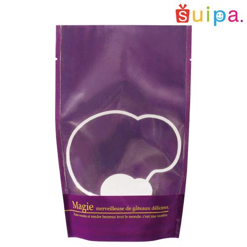 【送料無料】【焼き菓子袋 スタンド 立てて並べられる】バリアNY ST袋パープル(120×70×190ミリ) 2,000枚【ギフト 保存袋 乾燥剤 脱酸素剤 OK】