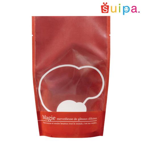 【送料無料】【焼き菓子袋 スタンド 立てて並べられる】バリアNY ST袋レッド(120×70×190ミリ) 2,000枚【ギフト 保存袋 乾燥剤 脱酸素剤 OK】
