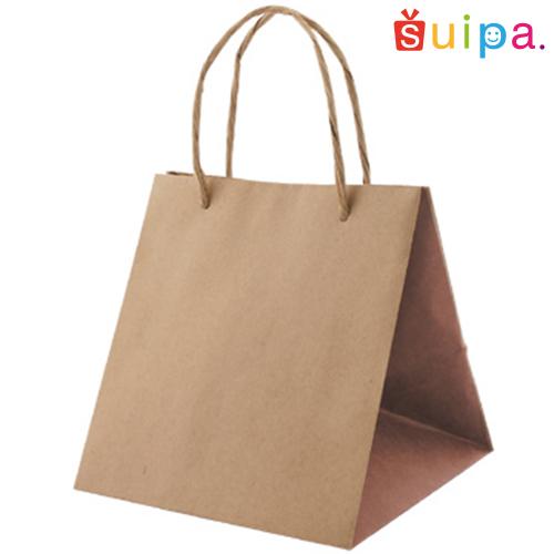 ■【送料無料】クラフト手提げ紙袋 L-22 ブラウン 300枚【紙袋/手さげ袋/手提げ/手さげ/てさげ】