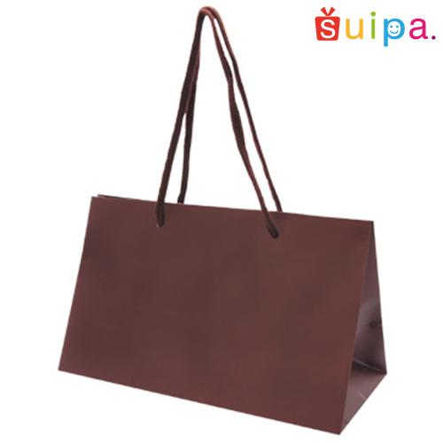 ■【送料無料】手提げ紙袋 ペーパーギフトバッグ(茶) ワイドM 100枚セット 【紙袋/手提げ袋/手さげ袋/手提げ/手さげ/てさげ】