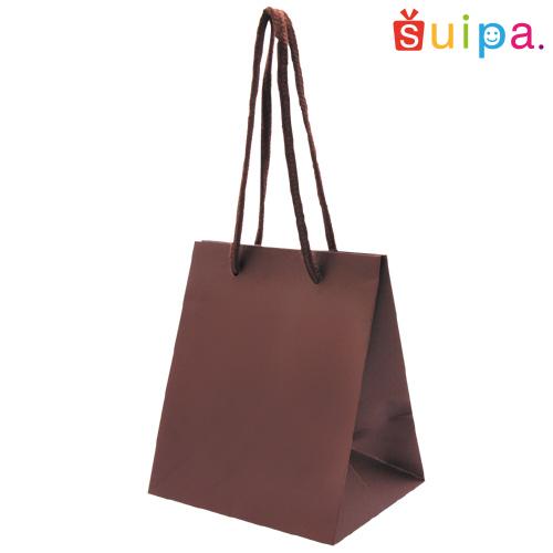 ■【送料無料】手提げ紙袋 ペーパーギフトバッグ(茶) SS 100枚【紙袋/手提げ袋/手さげ袋/手提げ/手さげ/てさげ】
