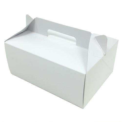 【日本製】手提げ付きケーキ箱 (内寸210×150×90H) 250個【ケーキ プリン 箱 持ち運び ラッピング】【出し入れしやすい横開き】