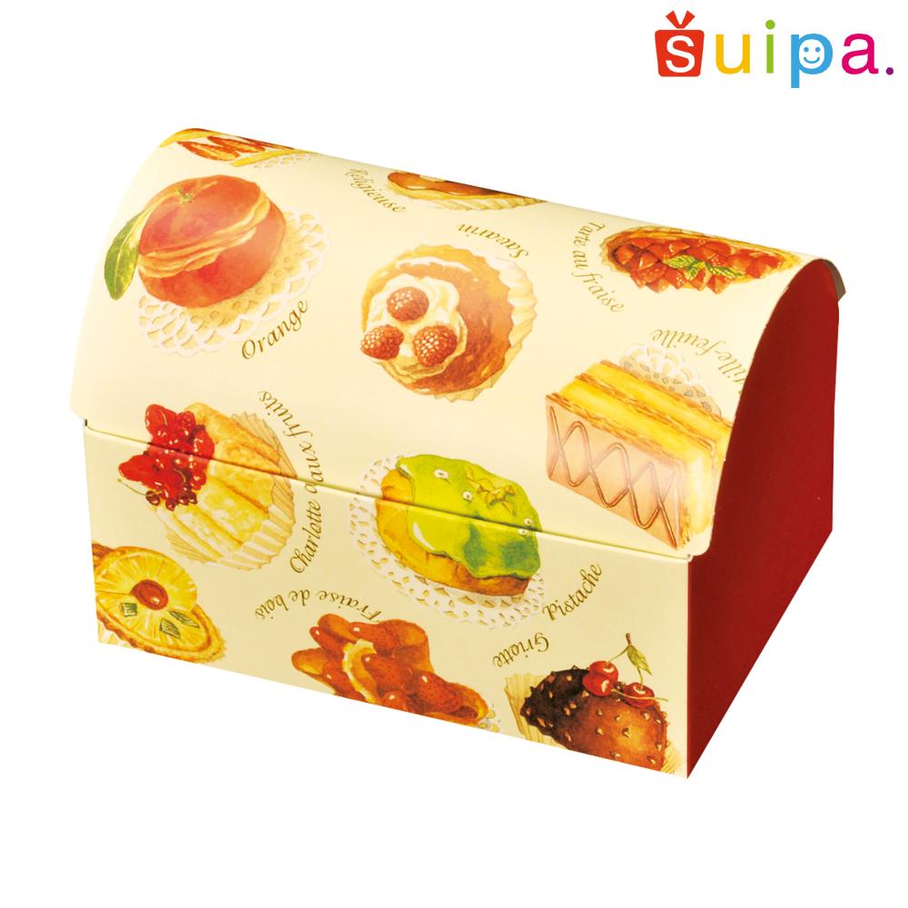 【送料無料】【菓子箱・ラッピング】パティスリー菓子柄 ドームBOX(内寸130×90×90H)200個