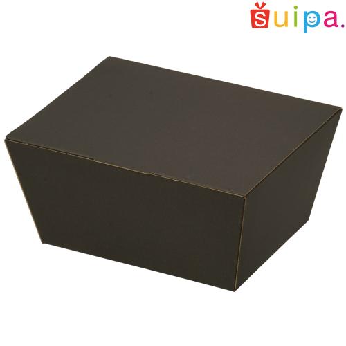 ■【送料無料】うす絹柄 BOX ブラック【内寸165×130(底面135×100)×76H(mm)】 100個